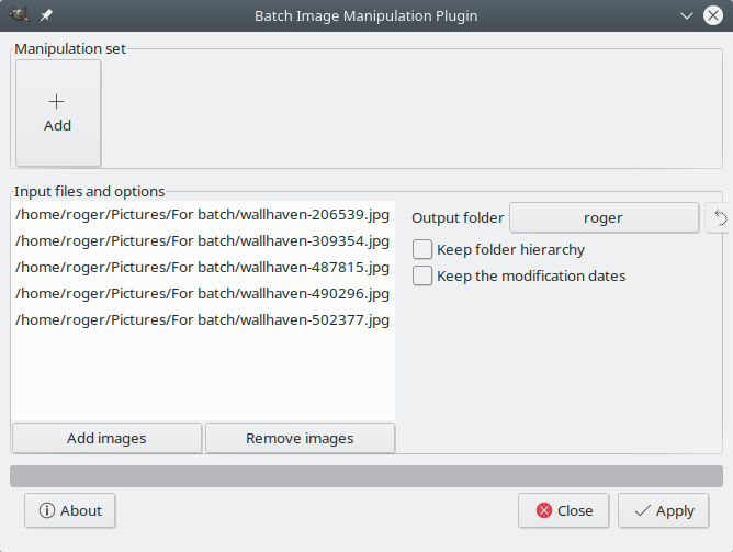 Batch image processing in GIMP     with BIMP