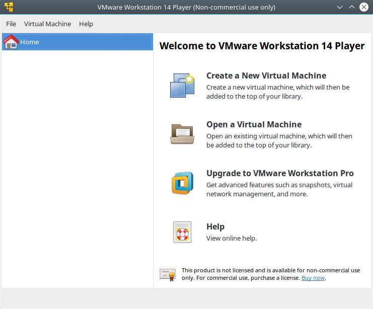 vmware workstation 14 player