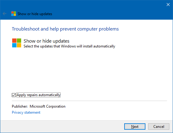 Windows 10 - How to hide updates