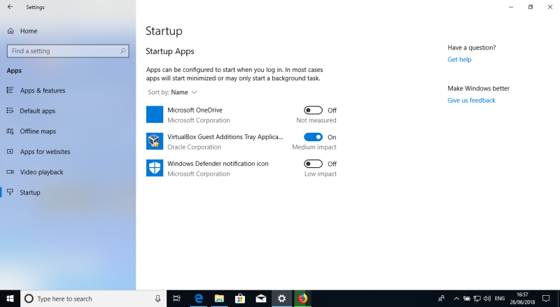OneDrive startup