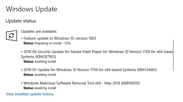 Windows 10 Update 1804 - Agile Shmagile