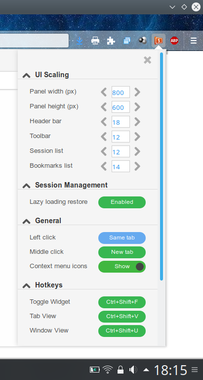 Session Sync - A nice session manager for Firefox Quantum