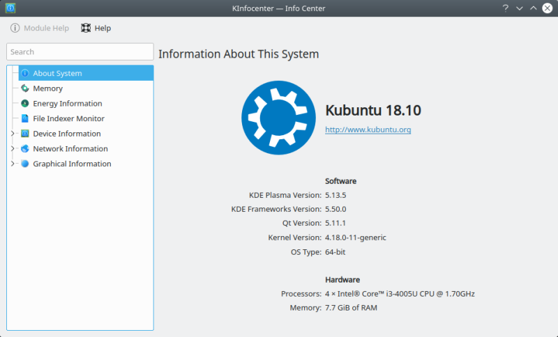 Kubuntu 18 10 Cosmic Cuttlefish - Quite all right