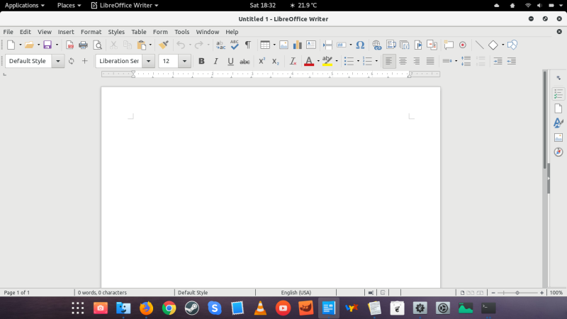 Office 2013 theme in use