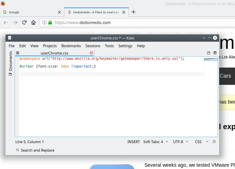 Change look & feel of Firefox pinned tabs