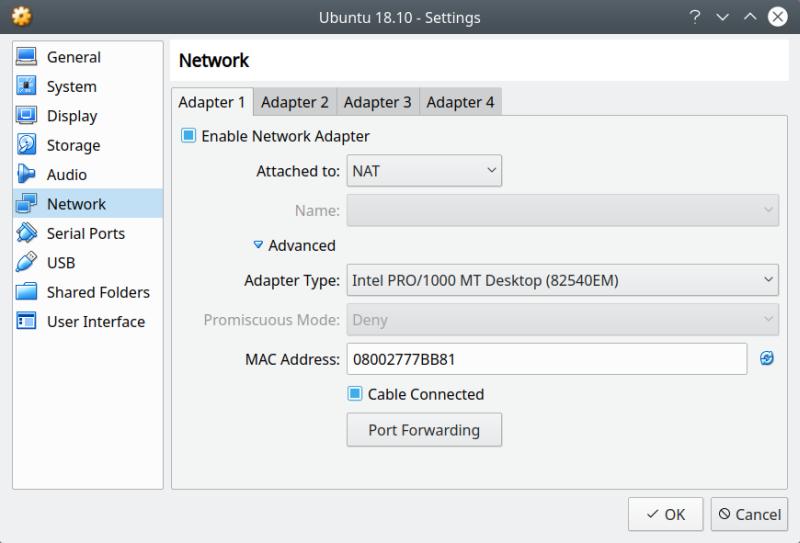 VirtualBox: file sharing on NAT with no shared folders