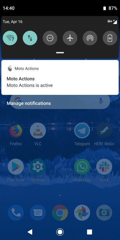 Moto Actions, active