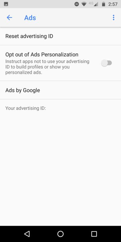 Ads personalization