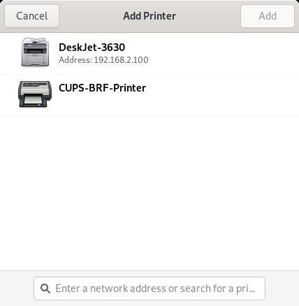 Printers, no Samba