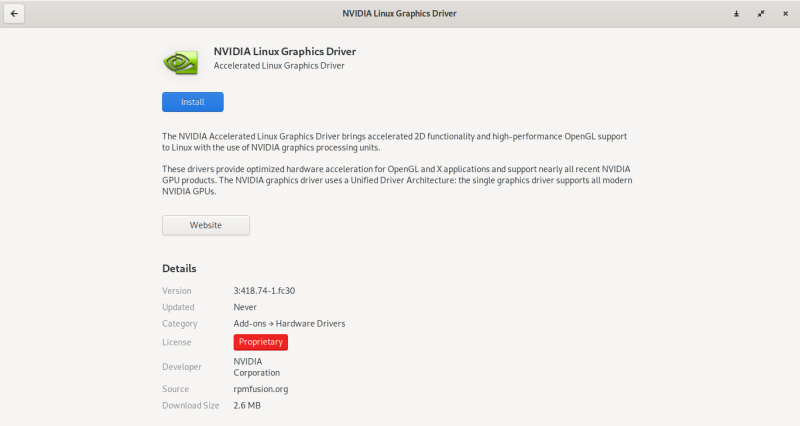 How to install Nvidia drivers in Fedora 30 guide