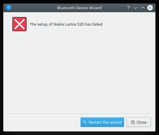 Bluetooth pairing, bogus fail