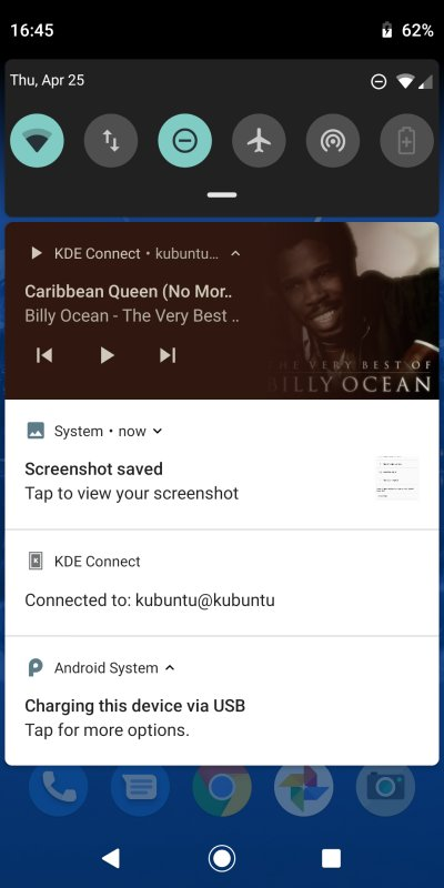 KDE Connect, playing laptop music from the phone