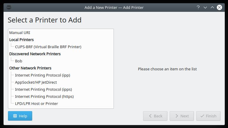 Printing, no Samba