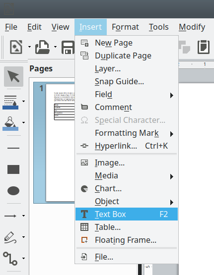 How to edit PDF forms in Linux - with LibreOffice