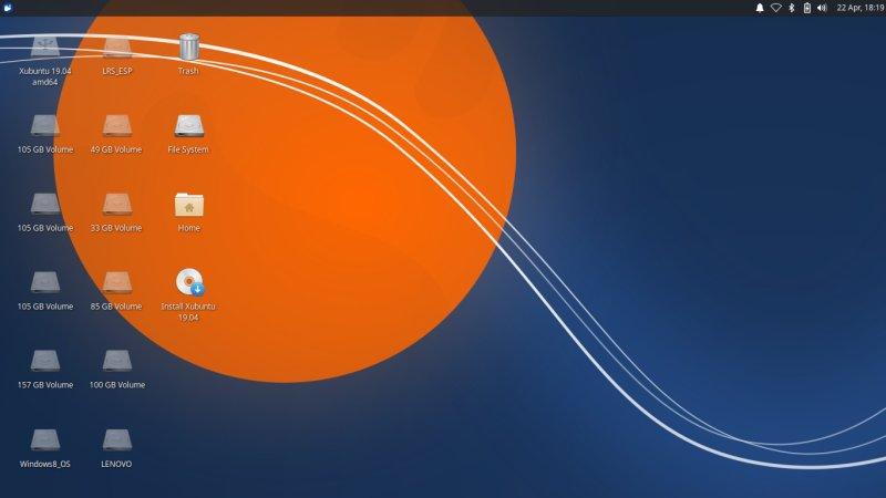 Live desktop, icons