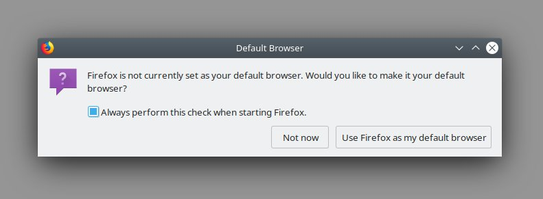 Default browser, teaser