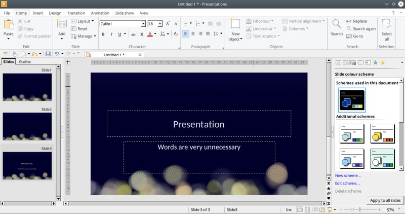 Presentations, working