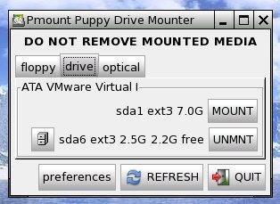 Puppy mount