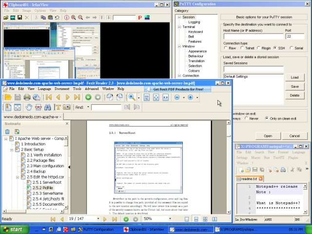 Foxit, IrfanView, Putty, Notepad++