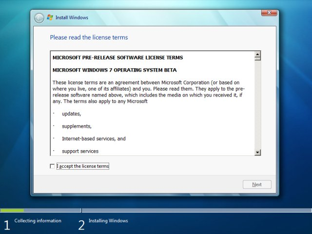 windows-7-license - پارتیشن بندی ویندوز 7  - متا