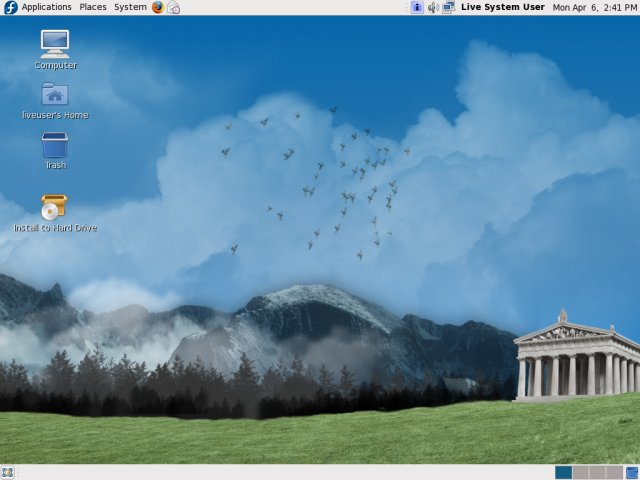 live fedora desktop