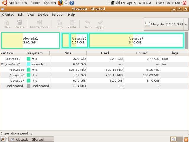 gparted pour windows xp