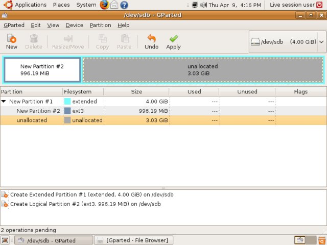 GParted partitioning software - Full tutorial