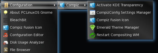 Emerald on Compiz menu
