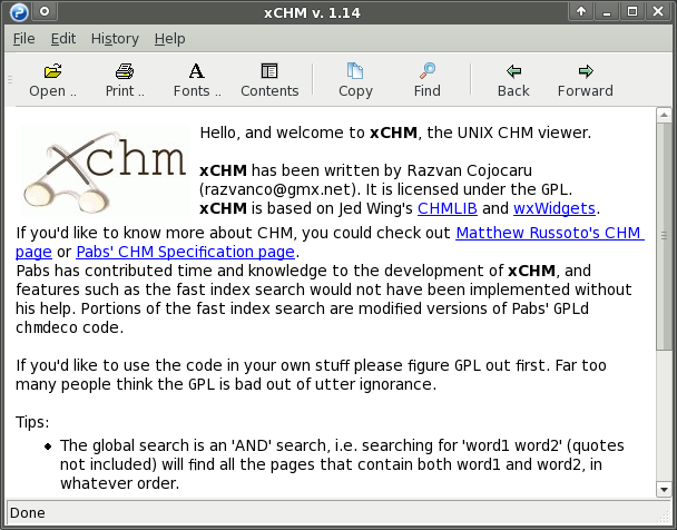 CHM viewer
