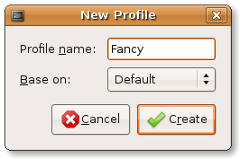 Change terminal - new profile