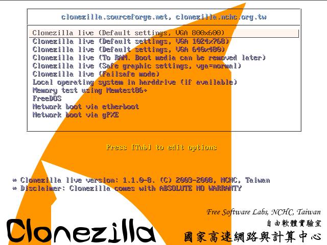 Free Imaging software - CloneZilla & PartImage - Tutorial