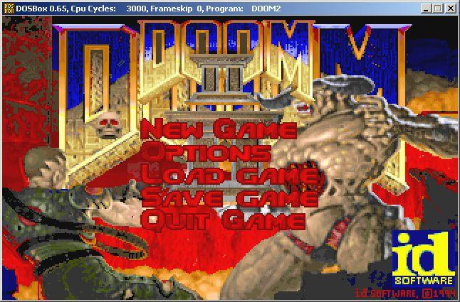 DOSBox Doom 2 running