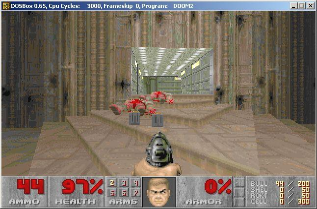 DOSBox Playing Doom 2
