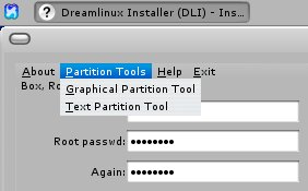 Dreamlinux install 4 partitioning