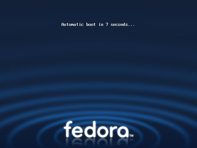Fedora first boot