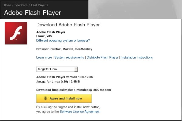 Flash player archive