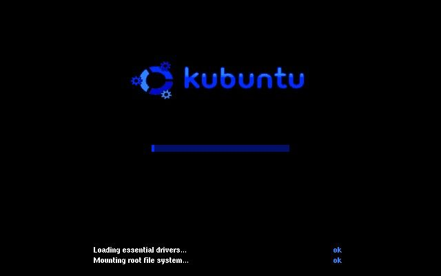 Kubuntu booting from hard disk