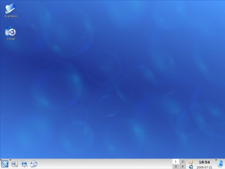 Kubuntu loaded the first time