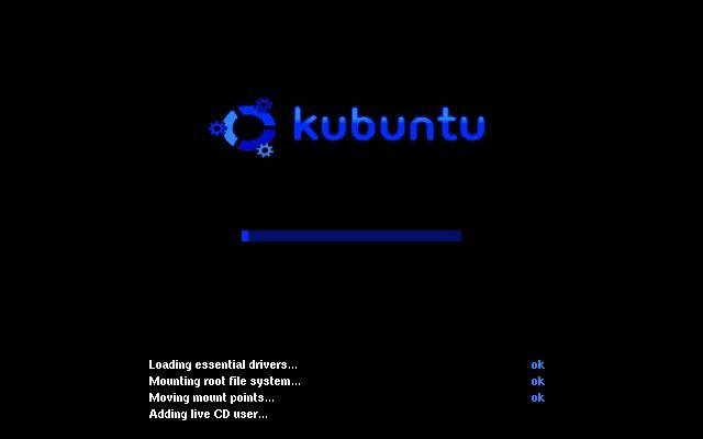 Kubuntu loading the first time