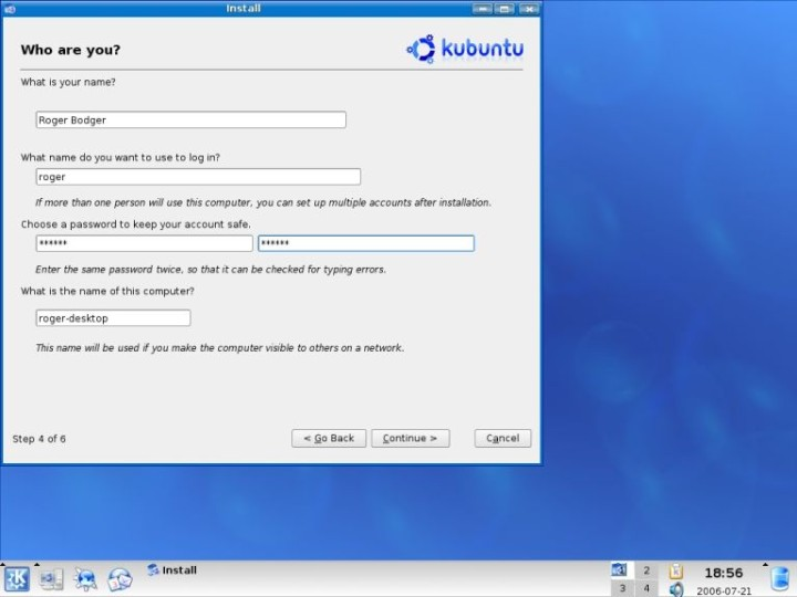 Kubuntu user settings