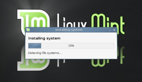 Linux Mint installing
