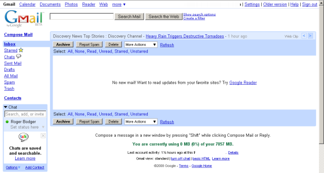 Mail security Gmail interface