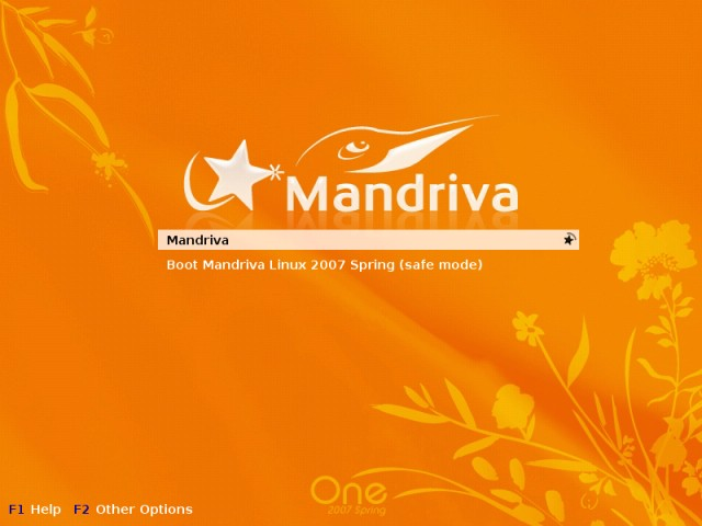 Mandriva boot first time