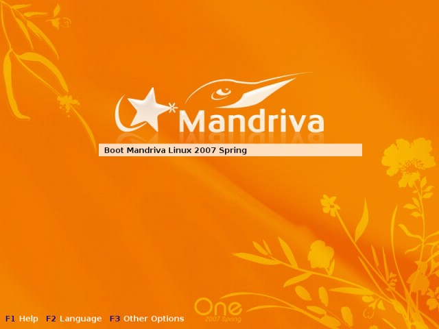 Mandriva booting live CD 1
