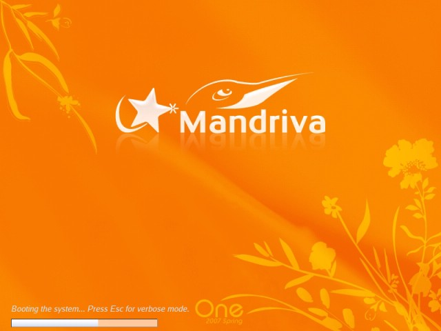 Mandriva booting live CD 2