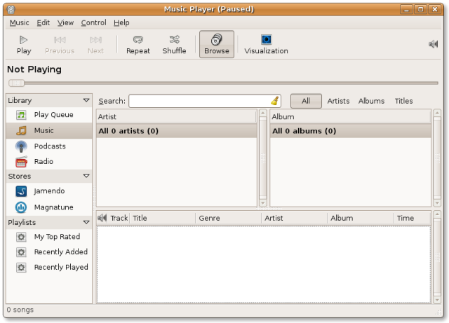 MP3 rhythmbox media player