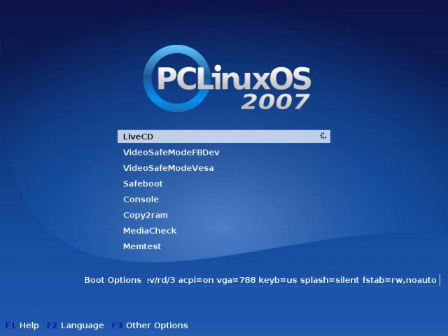 PCLinuxOS boot CD