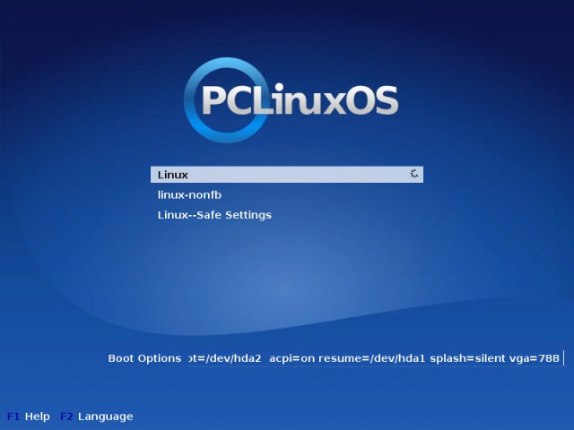 PCLinuxOS boot installed