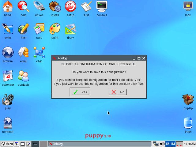 Puppy network wizard 4