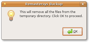 Remastersys GUI clean